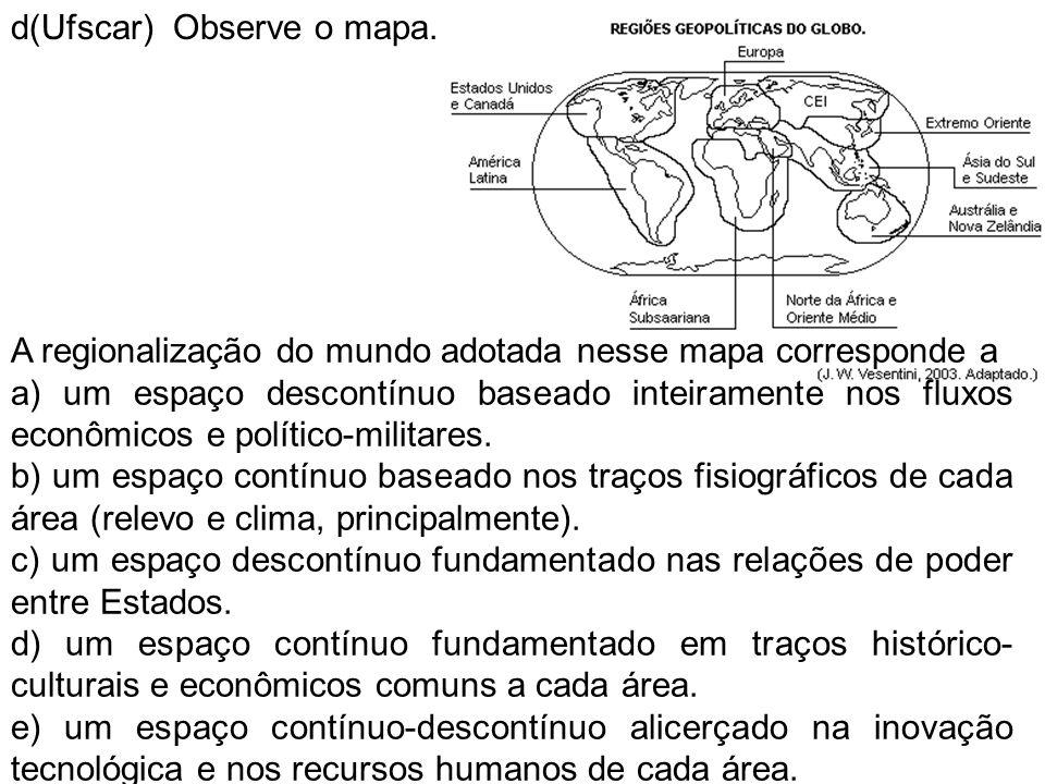 d(Ufscar) Observe o mapa.