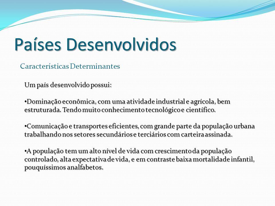 Países Desenvolvidos Características Determinantes