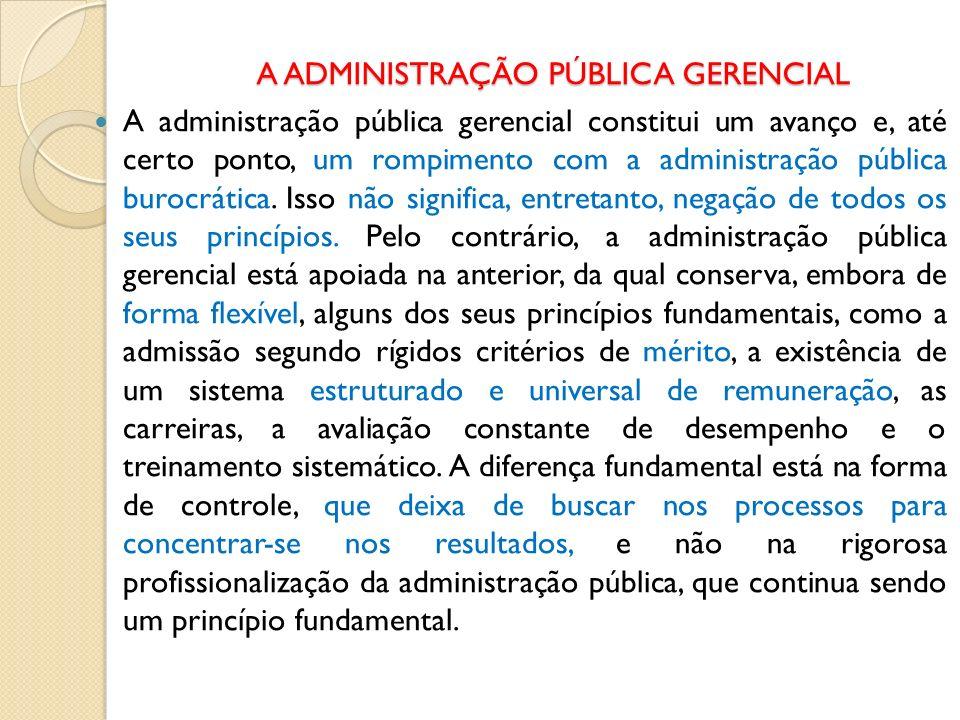 A administração pública gerencial