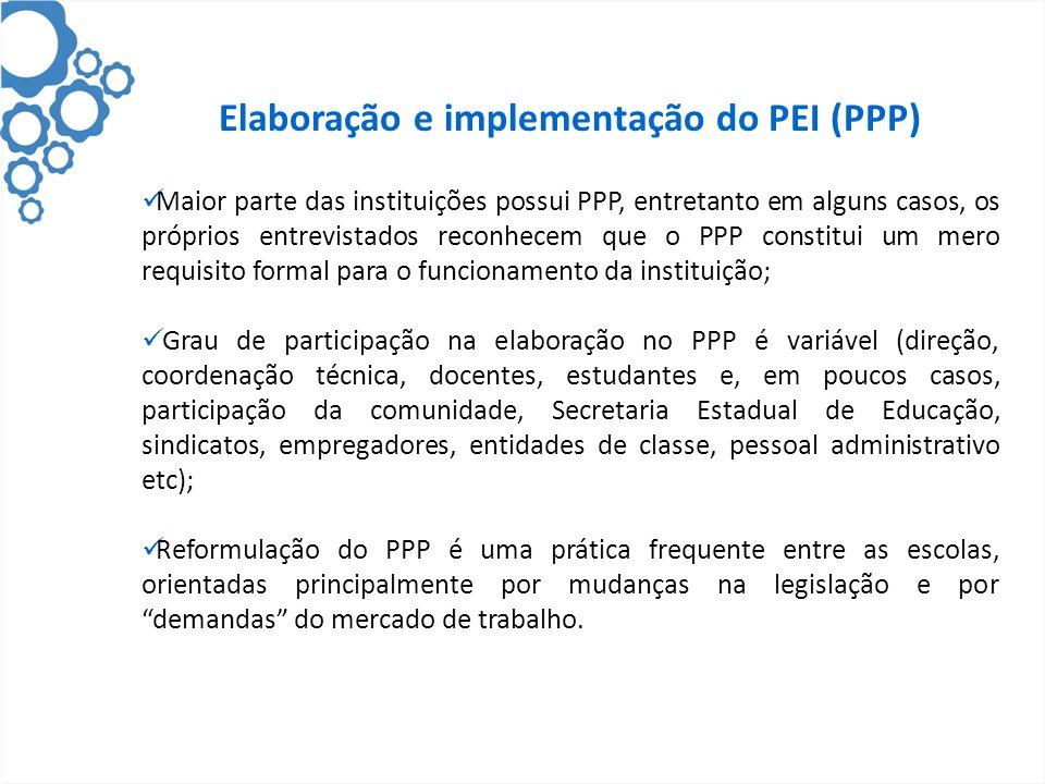 Elaboração e implementação do PEI (PPP)