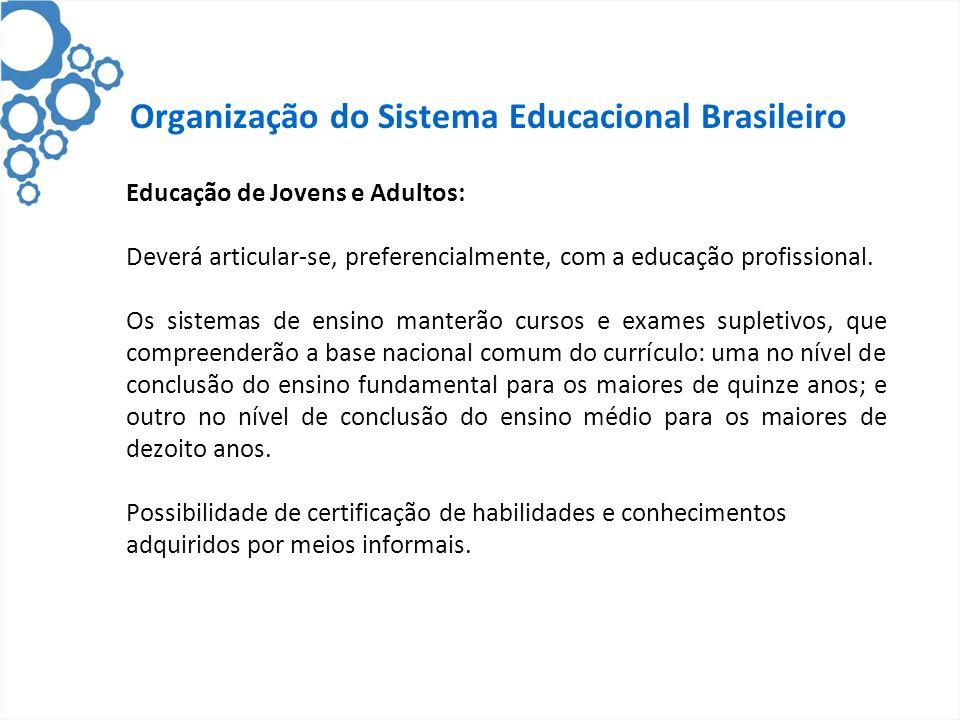 Organização do Sistema Educacional Brasileiro