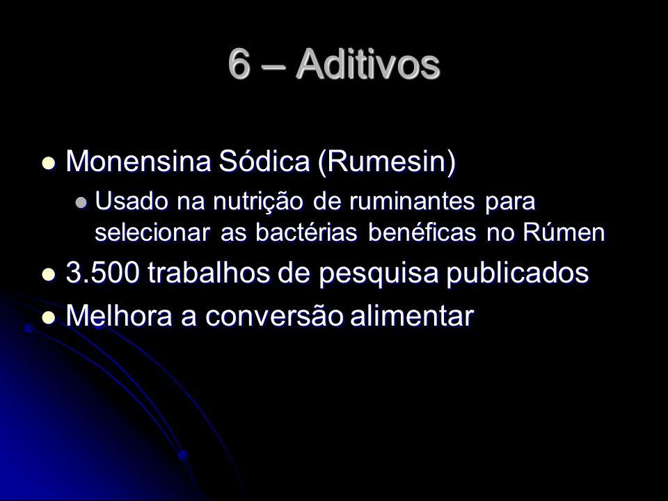 6 – Aditivos Monensina Sódica (Rumesin)
