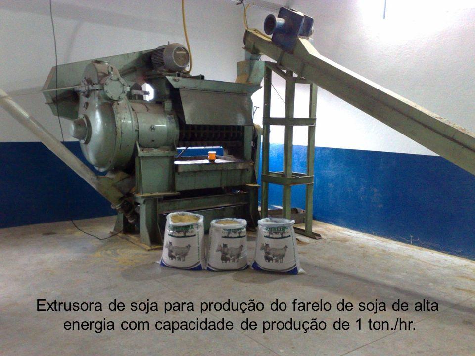 Extrusora de soja para produção do farelo de soja de alta