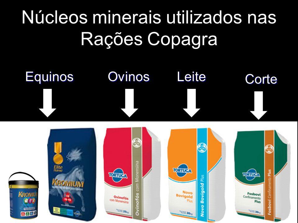 Núcleos minerais utilizados nas Rações Copagra