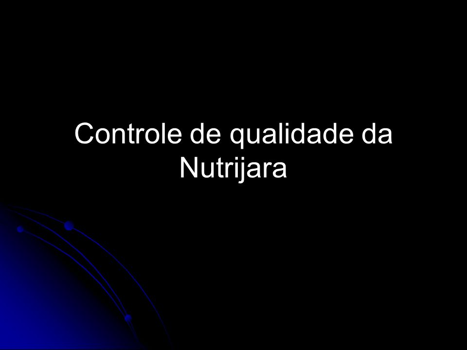Controle de qualidade da Nutrijara