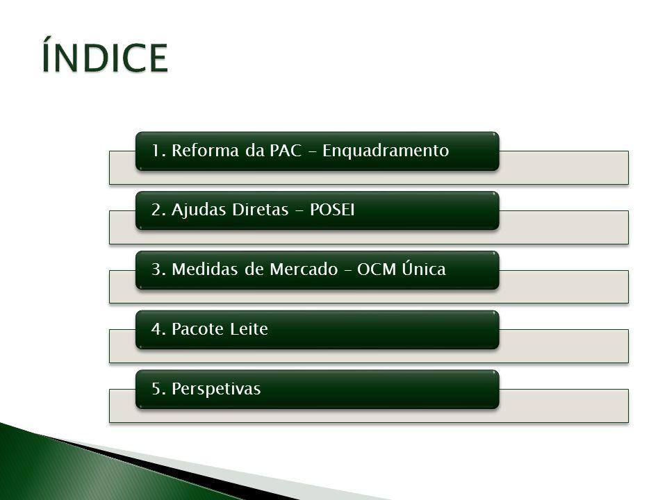 ÍNDICE 1. Reforma da PAC - Enquadramento 2. Ajudas Diretas - POSEI