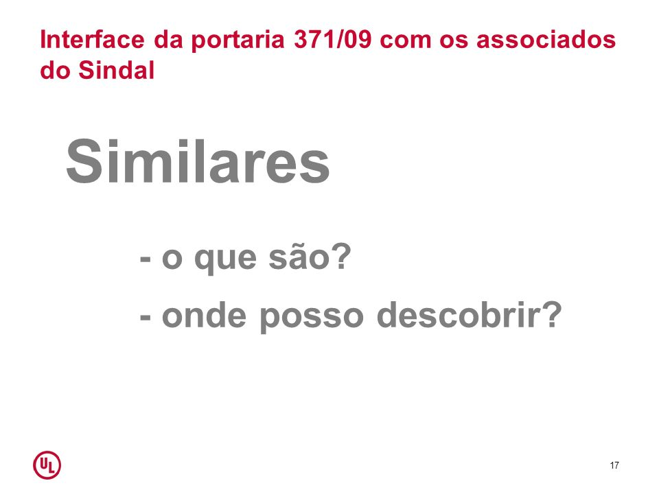 Interface da portaria 371/09 com os associados do Sindal