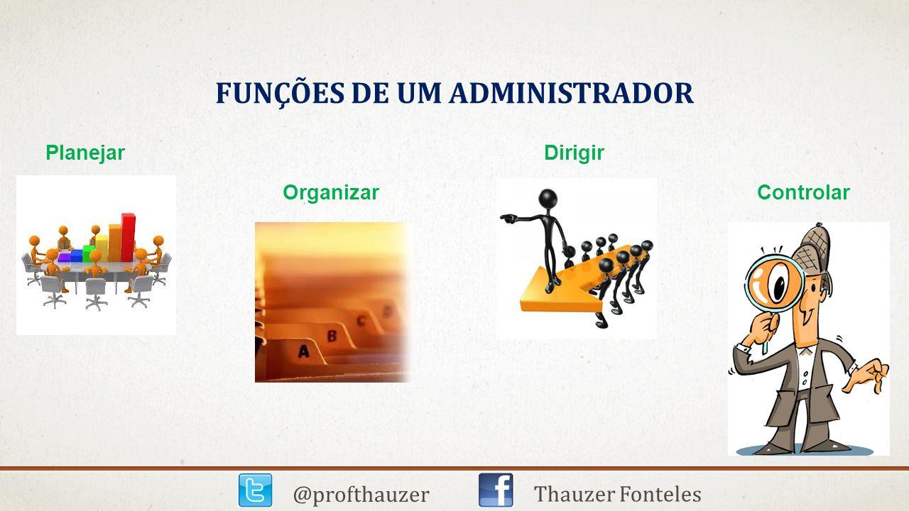 Funções de um administrador