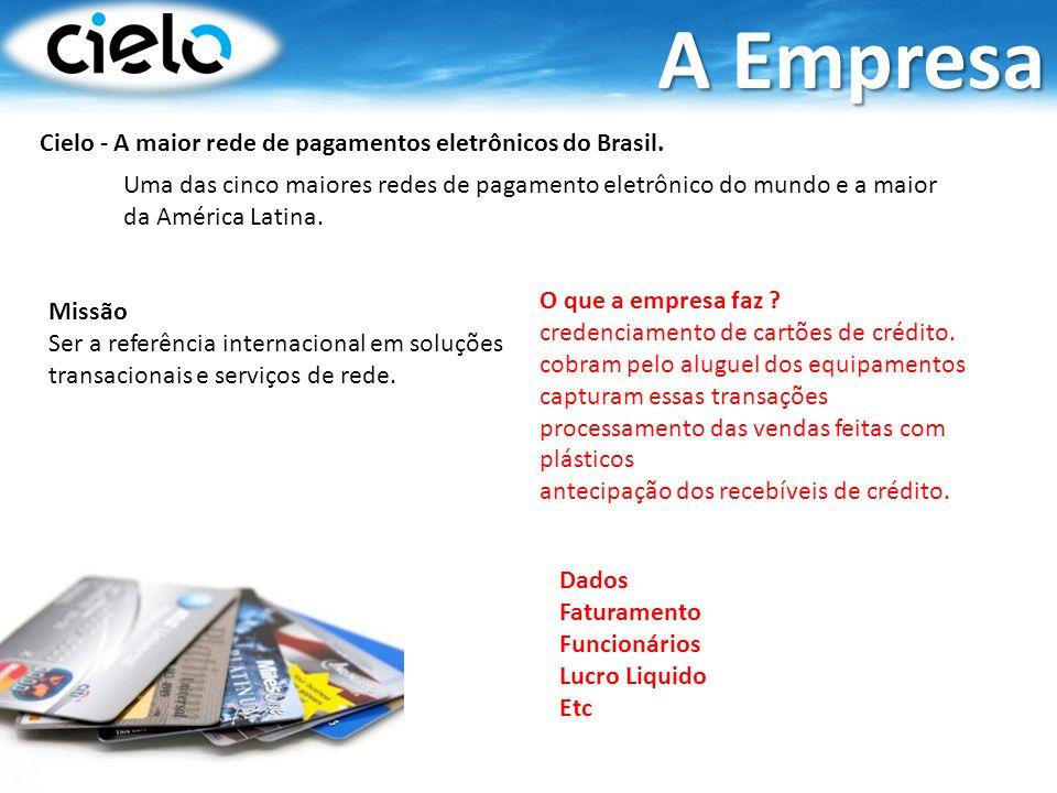 A Empresa Cielo - A maior rede de pagamentos eletrônicos do Brasil.