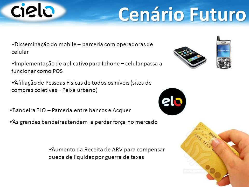 Cenário Futuro Disseminação do mobile – parceria com operadoras de celular.