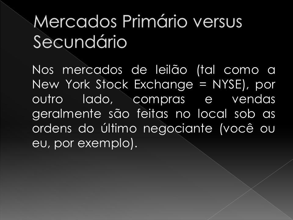 Mercados Primário versus Secundário