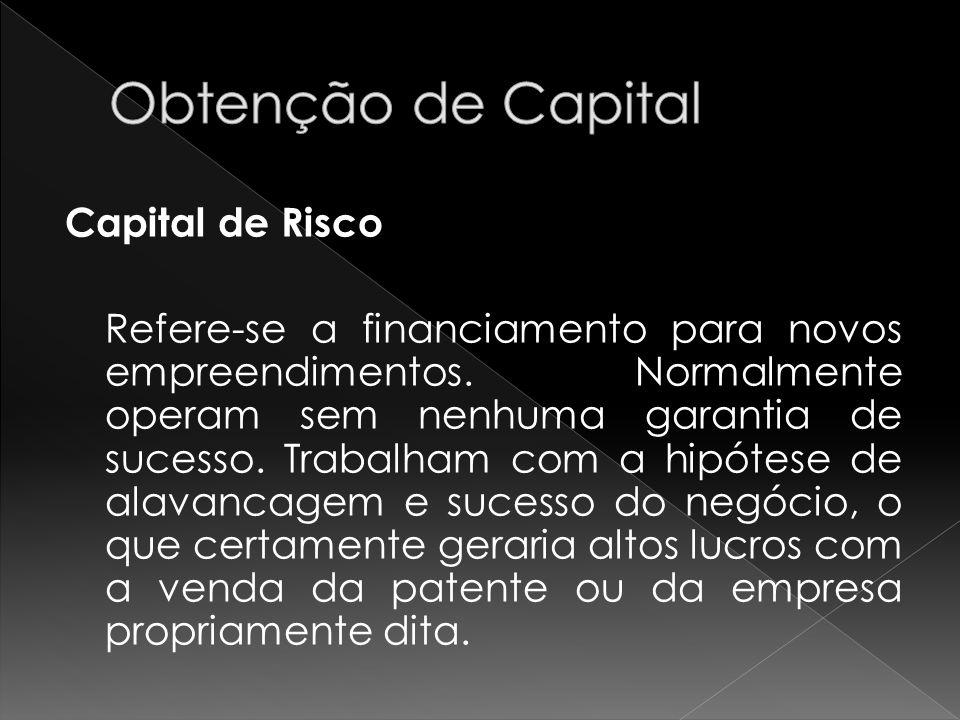 Obtenção de Capital Capital de Risco
