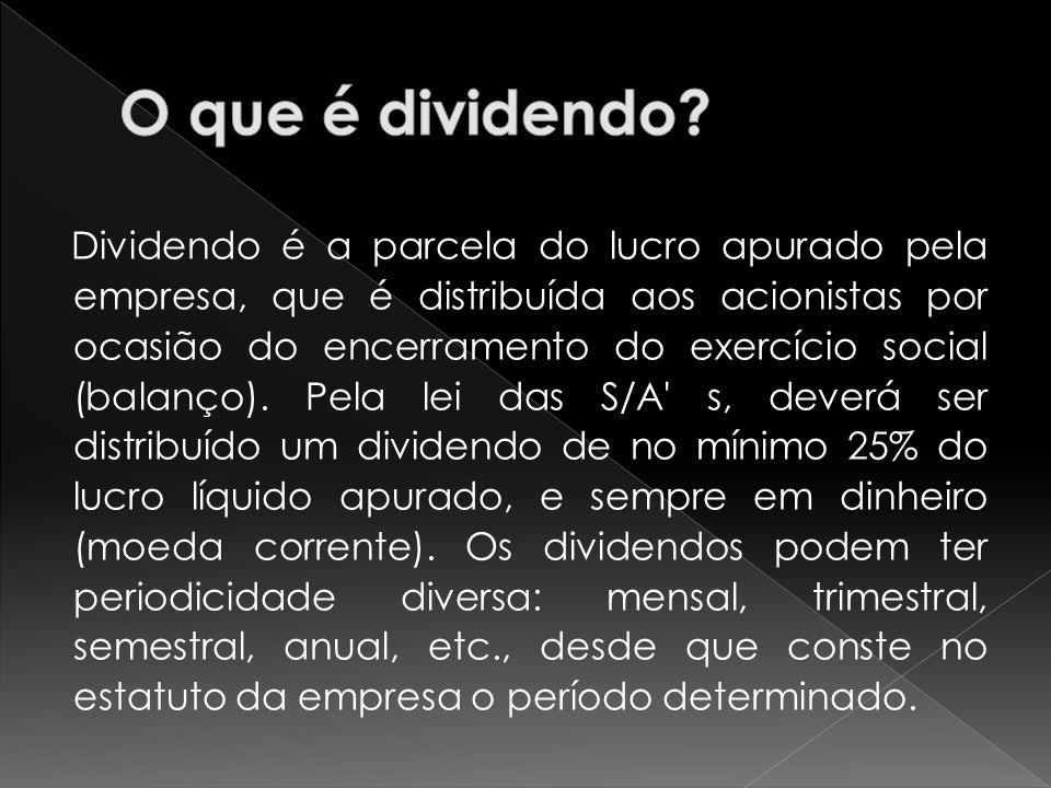 O que é dividendo