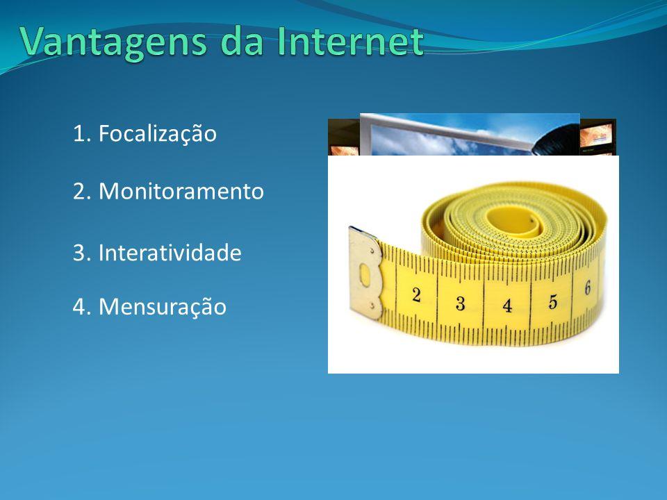 Vantagens da Internet 1. Focalização 2. Monitoramento