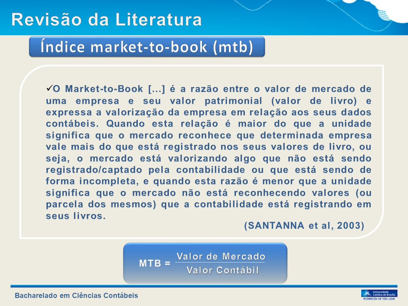 Índice market-to-book (mtb)
