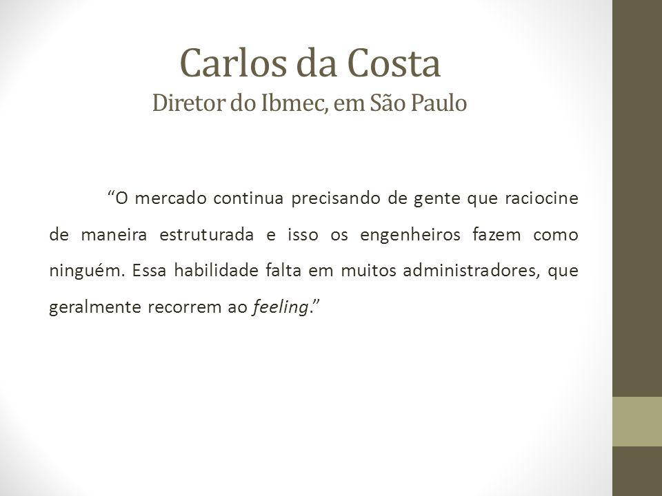 Carlos da Costa Diretor do Ibmec, em São Paulo