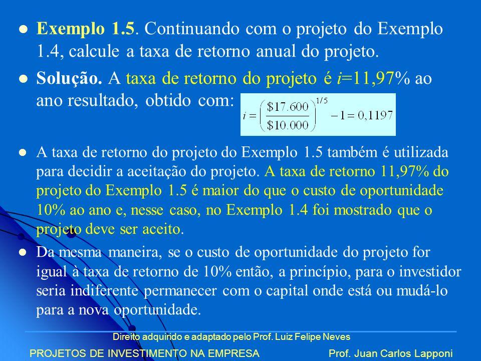 Exemplo 1. 5. Continuando com o projeto do Exemplo 1