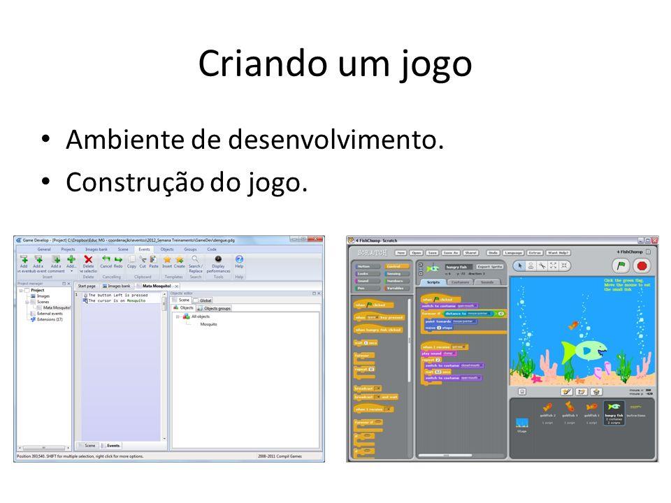 Criando um jogo Ambiente de desenvolvimento. Construção do jogo.