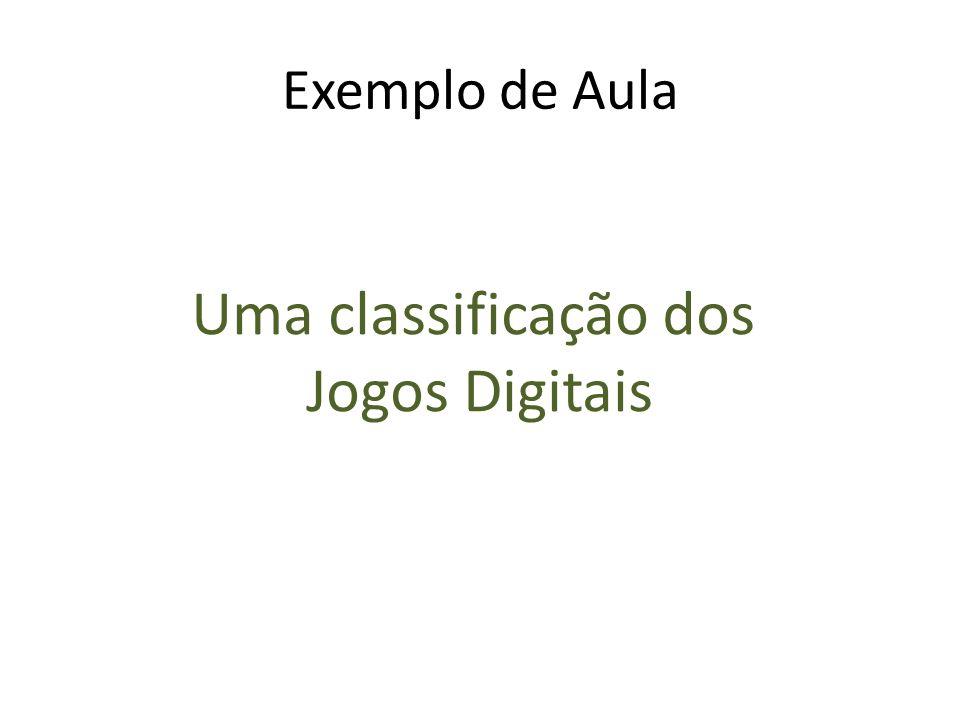 Exemplo de Aula Uma classificação dos Jogos Digitais