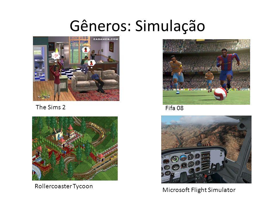 Gêneros: Simulação The Sims 2 Fifa 08 Rollercoaster Tycoon