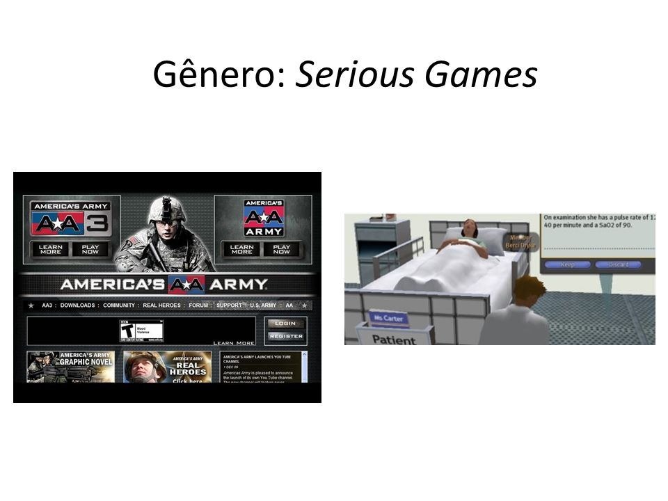 Gênero: Serious Games