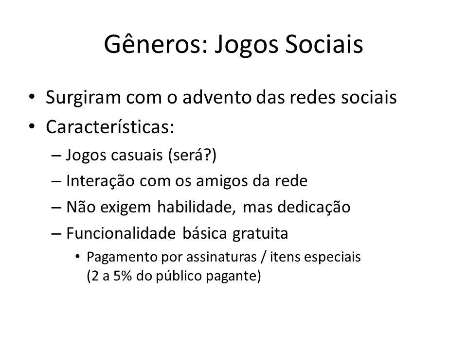 Gêneros: Jogos Sociais