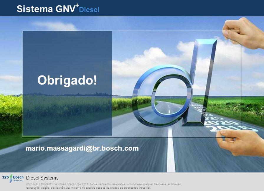 Obrigado! Sistema GNV+Diesel mario.massagardi@br.bosch.com