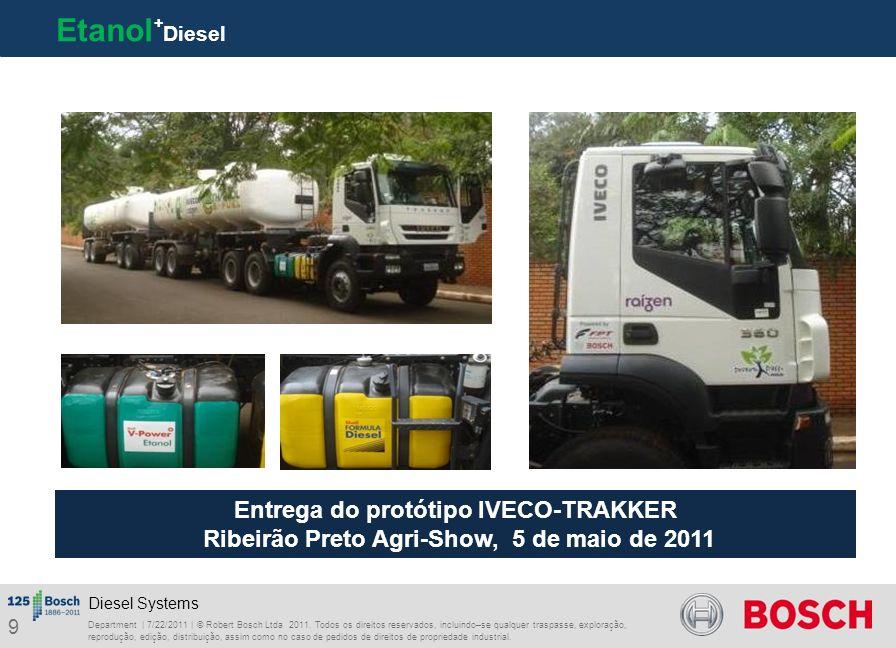 Etanol+Diesel Entrega do protótipo IVECO-TRAKKER Ribeirão Preto Agri-Show, 5 de maio de 2011.