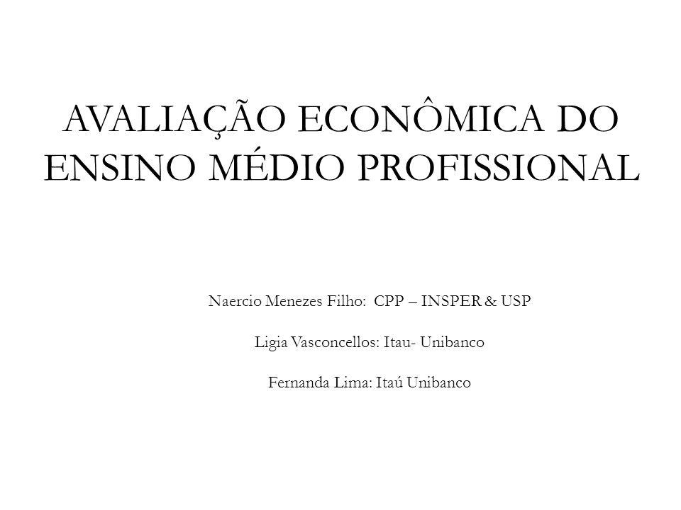 avaliação econômica do Ensino médio profissional