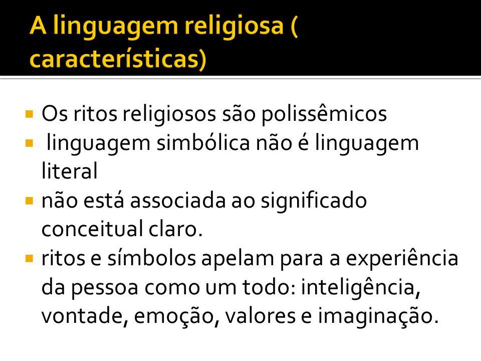 A linguagem religiosa ( características)