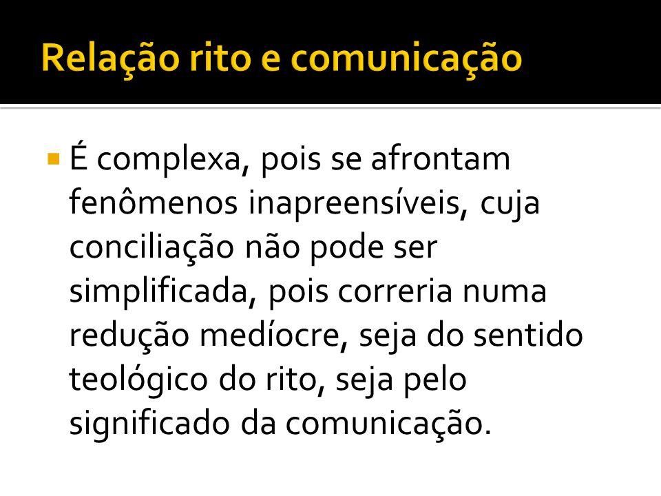 Relação rito e comunicação