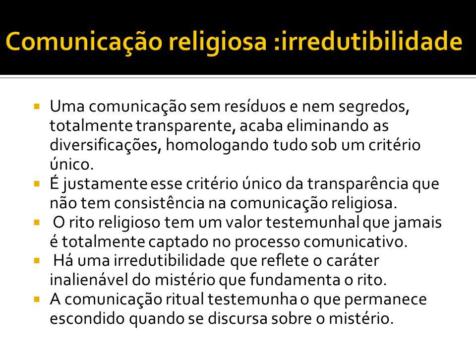 Comunicação religiosa :irredutibilidade