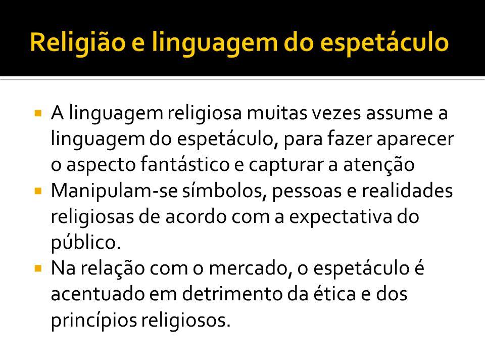 Religião e linguagem do espetáculo