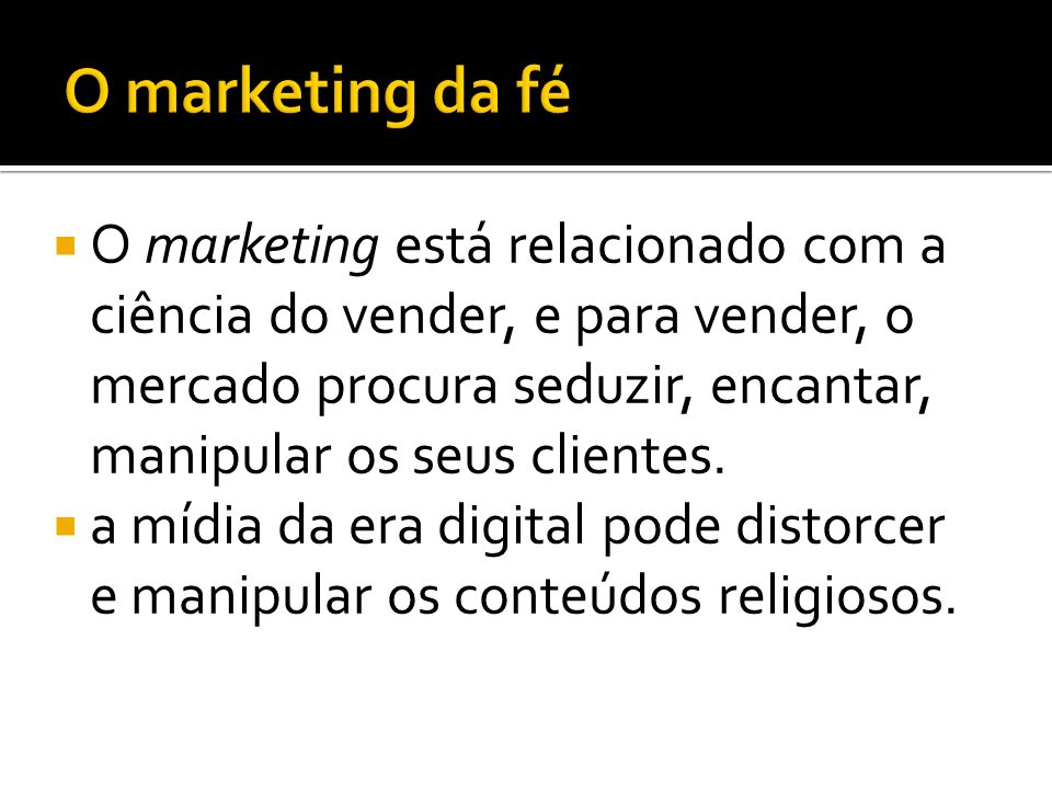 O marketing da fé
