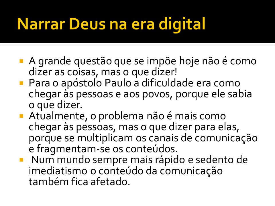 Narrar Deus na era digital