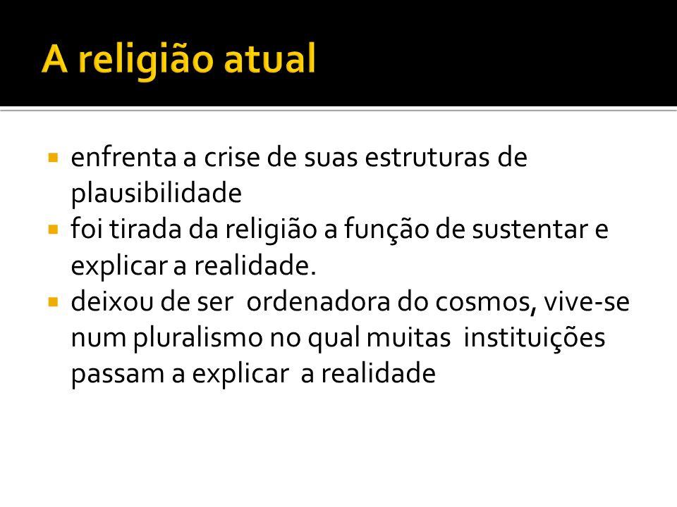 A religião atual enfrenta a crise de suas estruturas de plausibilidade