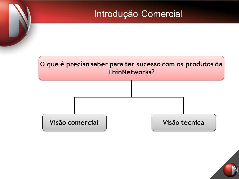 Introdução Comercial O que é preciso saber para ter sucesso com os produtos da ThinNetworks Visão comercial.