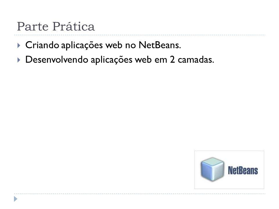 Parte Prática Criando aplicações web no NetBeans.