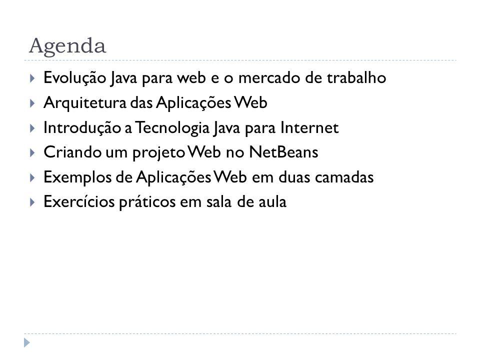Agenda Evolução Java para web e o mercado de trabalho