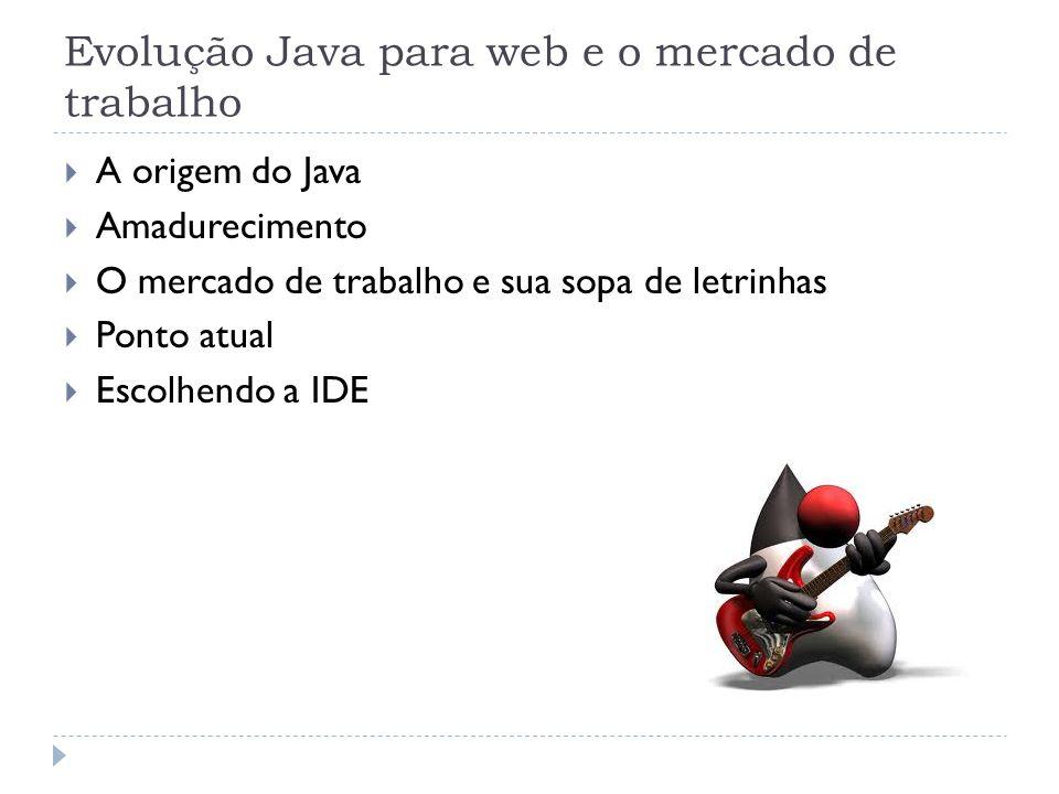 Evolução Java para web e o mercado de trabalho