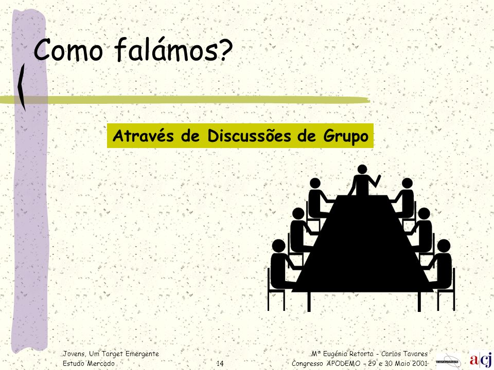 Como falámos Através de Discussões de Grupo
