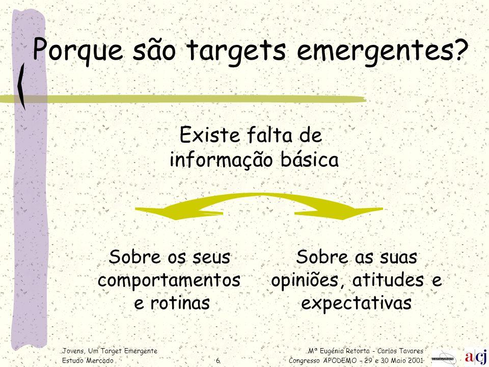 Porque são targets emergentes