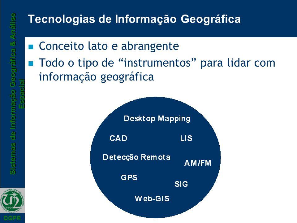 Tecnologias de Informação Geográfica