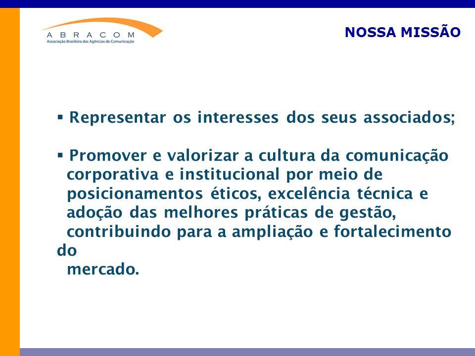 Representar os interesses dos seus associados;