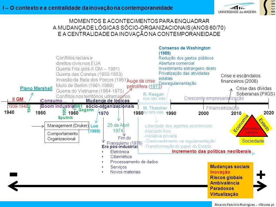 - + I – O contexto e a centralidade da inovação na contemporaneidade