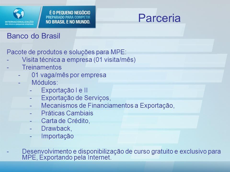 Parceria Banco do Brasil Pacote de produtos e soluções para MPE: