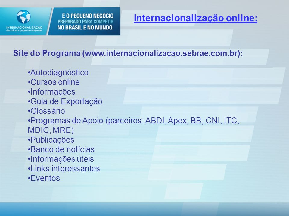 Internacionalização online: