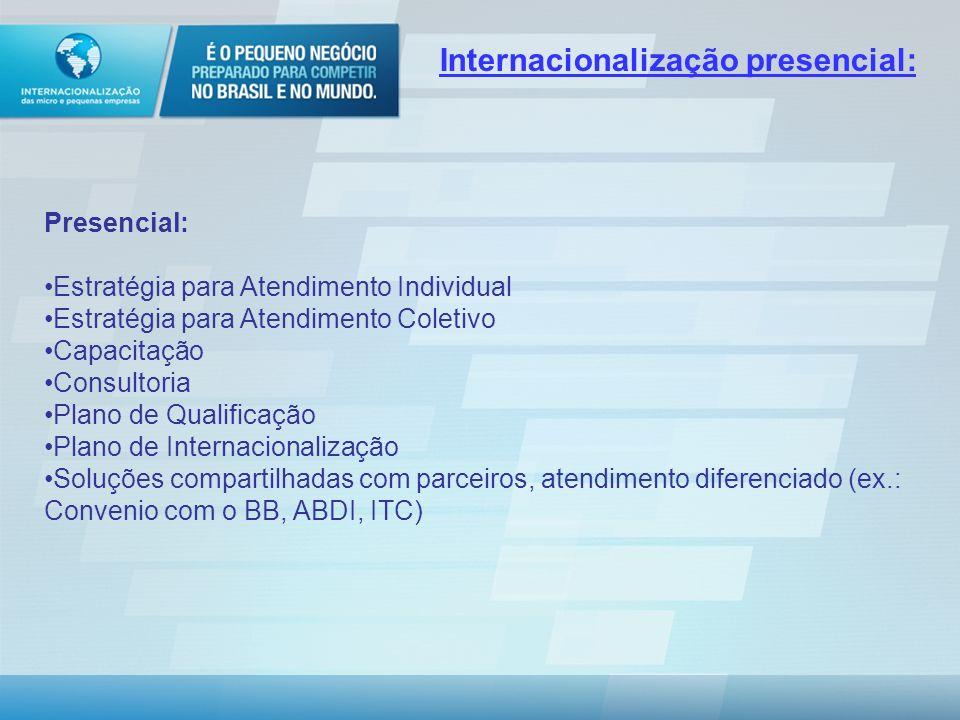 Internacionalização presencial: