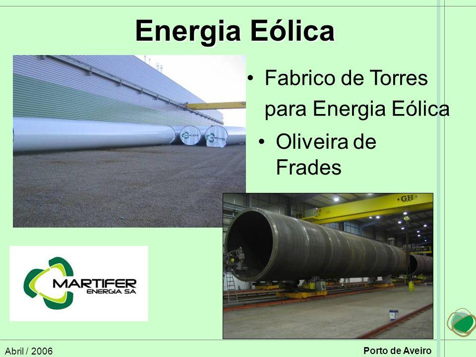 Energia Eólica Fabrico de Torres para Energia Eólica