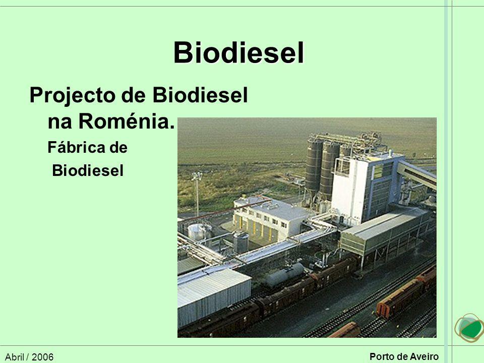 Biodiesel Projecto de Biodiesel na Roménia. Fábrica de Biodiesel